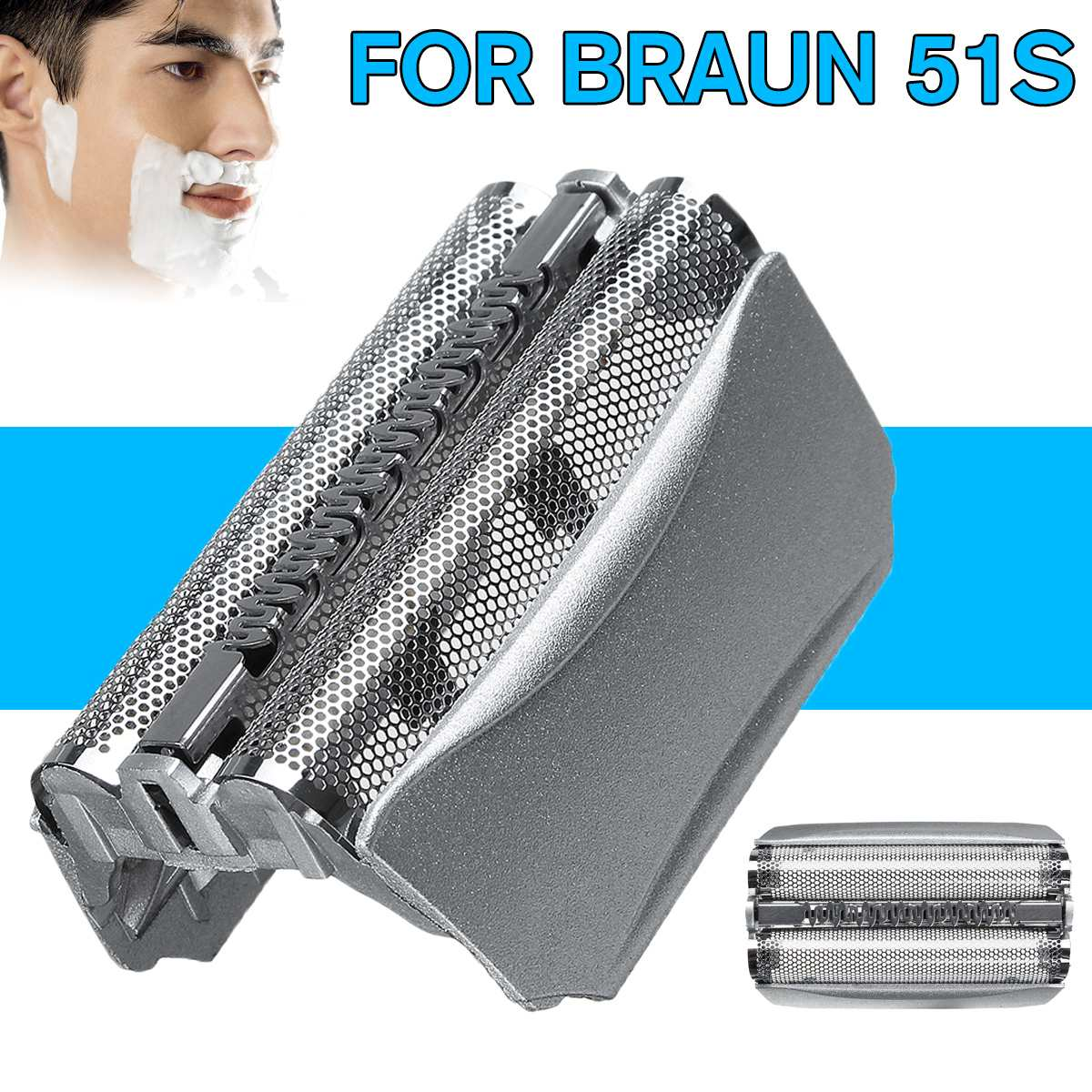 51S Foil Frame Replace Head For Braun Shaver 8000 Series 5 Activator Fit 550 570cc 5643 5644 5645 8970 8975 8985 8986 8995