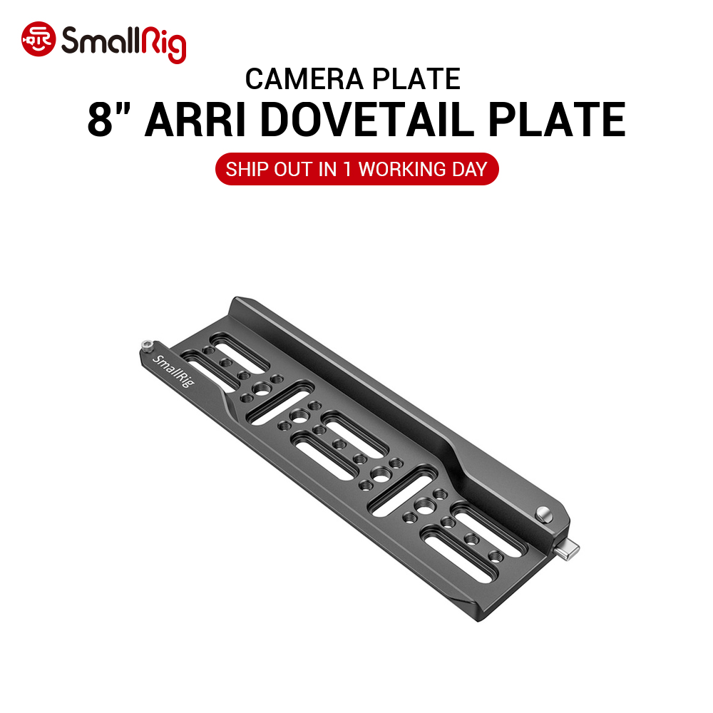 SmallRig DSLR Camera Plate 8'' Lightweight ARRI Dovetail Plate Quick Release for Video Shooting 2304 image
