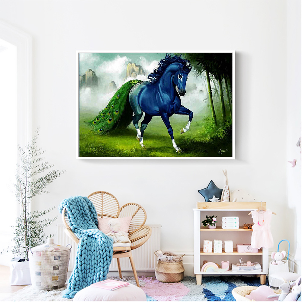 Hot Sale 6a59 Momoart Diamond Painting Cartoon Horse Diamond