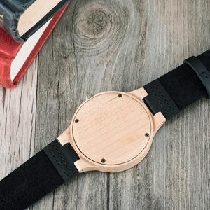 Image 5 - בובו ציפור מזדמן עץ שעונים לגברים למעלה מותג יוקרה עור שעון יד גבר שעון אופנה שעוני יד relogio masculino OEM