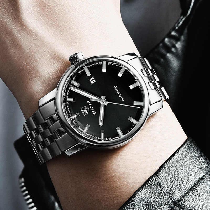 ساعات آلية جديدة للرجال من BENYAR ساعات أوتوماتيكية للرجال من أفضل العلامات التجارية ساعة يد فاخرة للرجال ساعة يد عسكرية للرجال 2019