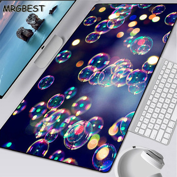 MRGBEST 2020 New Purple Bubble Mouse Pad Large 900x400cm Lockedge Non-slip Rubber Game Player Laptop Computer Keyboard Table Mat mrgbest beautiful anime fantasy forest non slip and durable rubber computer lockedge mat cartoon printing large game mouse pad