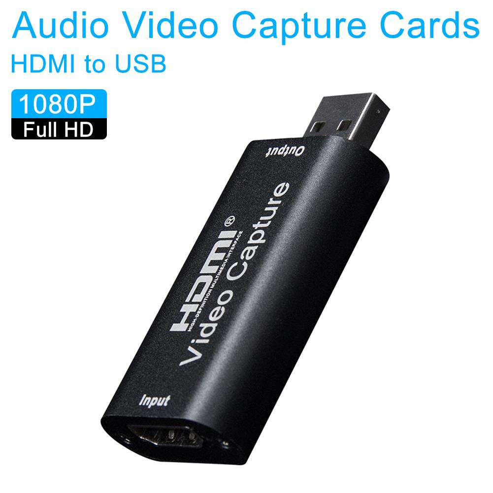 2020 Audio Video Capture Cards HDMI To USB 1080p USB2.0 Record Via DSLR Camcorder Camera For HD Acquisition Live Broadcasting