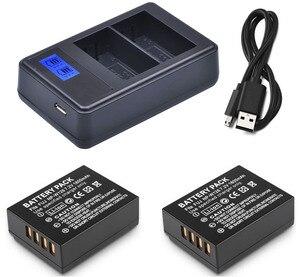 Батарея (2-Pack) + зарядное устройство для цифровой камеры Fujifilm XE1, XE2, XE2S, XE3, XH1, XM1, XT1, XT2, XT3, XT10, XT20, XT30, XT100
