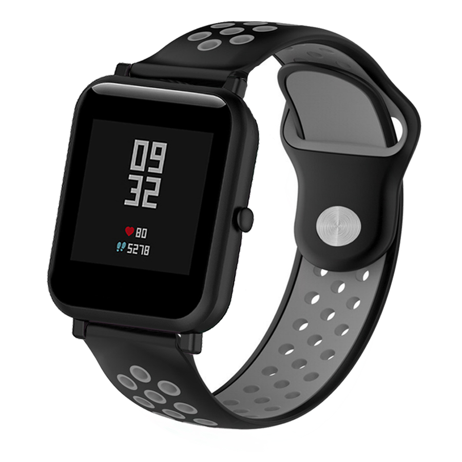 Silicone Strap Watch Band For Huami Amazfit Bip Watch Wrist Band 20mm For Xiaomi Mijia Quartz Garmin Forerunner 645 Vivoactive 3