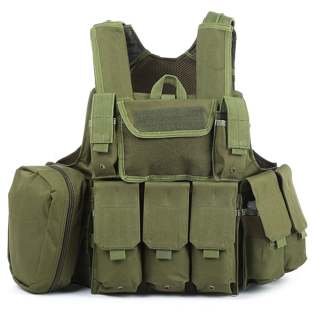 Amphibious Battle Combat Airsoft Molle Bullet Assault Plate Carrier Vest Camouflage Hunting Military Tactical Vest 10 Colors