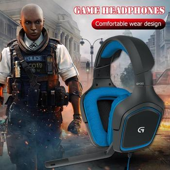 Logitech G430 USB Wired 7.1 Surround Adjustable Noise-Cancelling Headset Logitech Professional Gaming Headset high quility 4