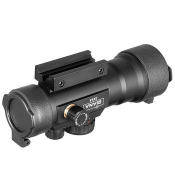 DIANA 3X44 Green Red Dot Sight Scope Tactical Optics Riflescope Fit 11/20mm rail Rifle Scopes for Hunting 6