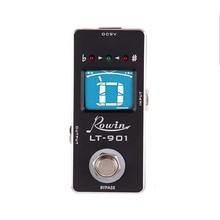 Rowin Lt 901 기타 튜너 이펙트 페달 튜너 미니 크로매틱 트루 바이 패스 LCD 디스플레이 디지털 페달 튜너