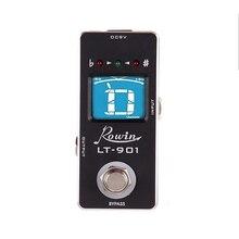 Rowin Lt 901 accordeur de guitare effet pédale accordeur Mini chromatique véritable contournement LCD affichage numérique pédale accordeur