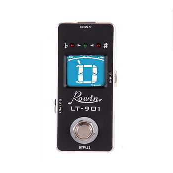 Rowin Lt-901 afinador de guitarra efeito afinador pedal mini cromática true bypass display lcd digital afinador pedal