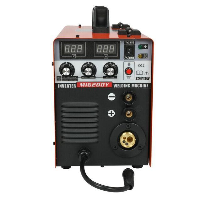 Onduleur MIG/MMA soudeuse IGBT 3-en-1 soudeuse sans gaz 220V EU Stock
