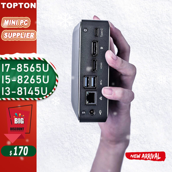 Súper Mini PC 10TH i7 10510U i5 10210 i7-8565U 2 * DDR4 NVME M.2 SSD bolsillo Nuc computadora de escritorio Window10 de tipo profesional-c 4-K HDMI2.0 DP