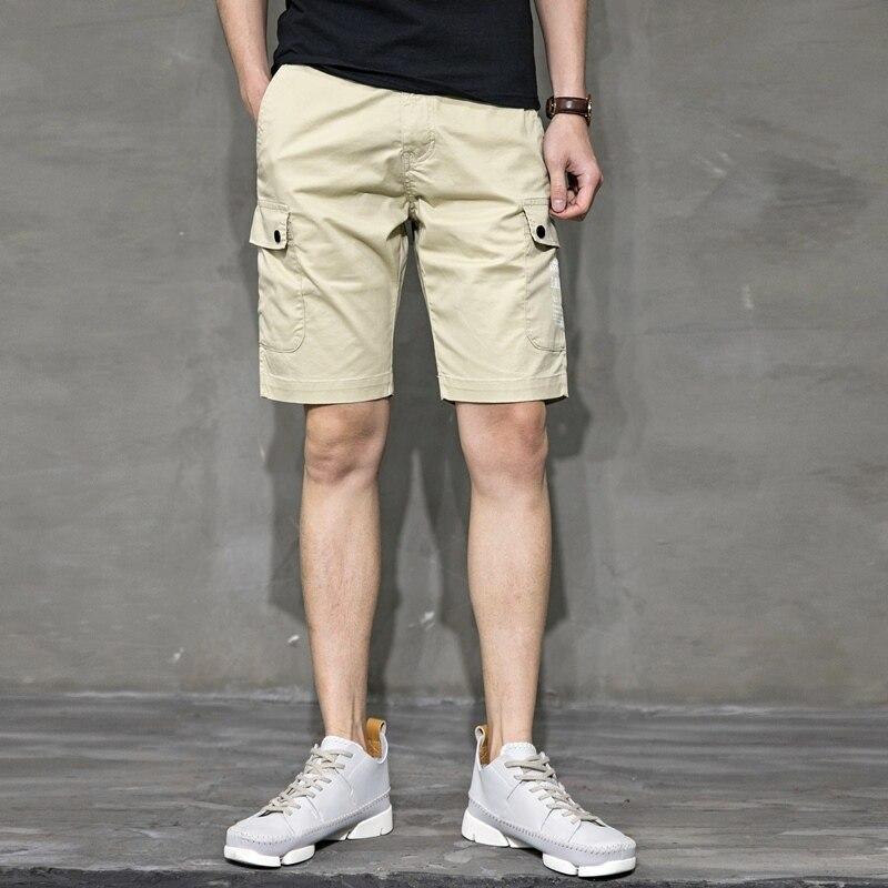 Surf Board Men Shorts Solid Color Elastic Baggy Summer Shorts Pockets Sweatpants Sport Stretch Bermudas Overwatch Pants XX60MS