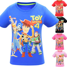 2019NEW Kids boys girl clothes summer Short sleeve BABY T shirts lovely cartoon toy story forky buzz woody Printed t-shirt Tops