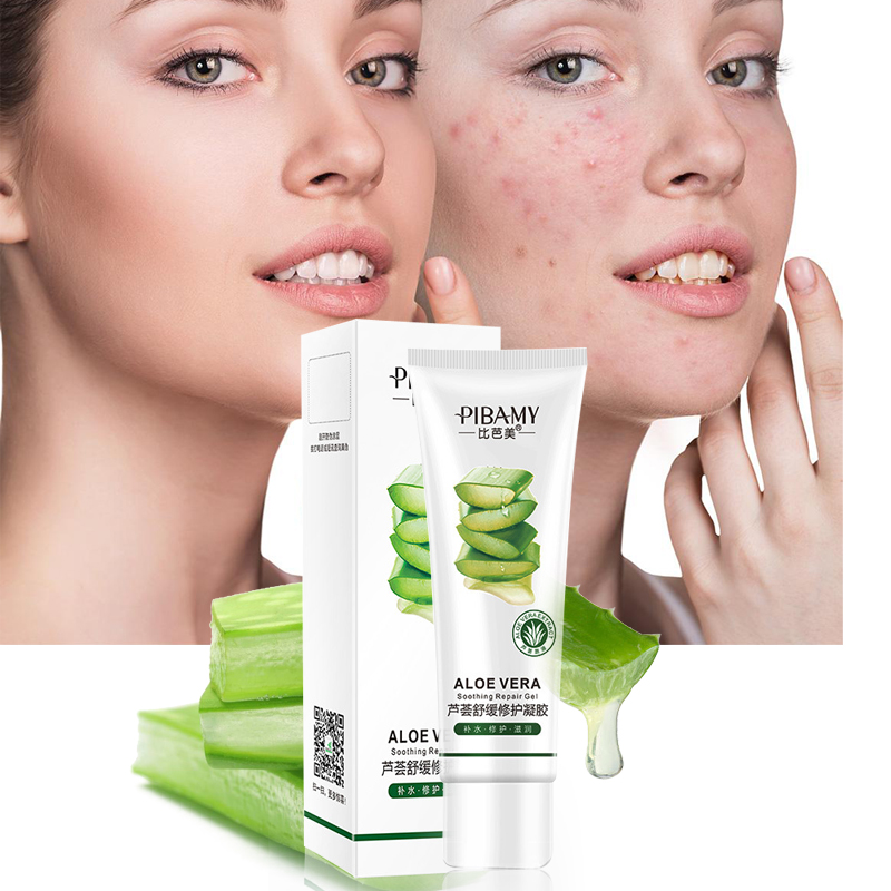 Natural Aloe Vera Gel Anti Acne Hydrating Whitening Day Creams Oil-Control Brighten Anti Aging Wrinkle Collagen Sunscreen Cream