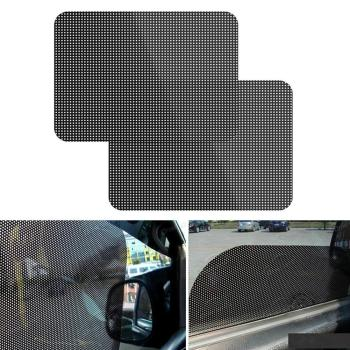2pcs Sun Block Film Anti-UV Car Static Sunshade Stickers Glass Curtain Sunroof Self-stick Insulation Car Sunscreen Window S T2Z0 image