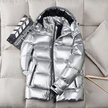 -30 Degree Winter Jacket Men Down Parkas Coat 90% White Duck