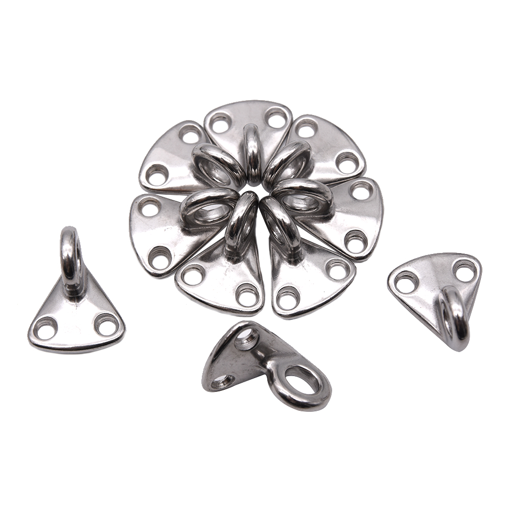 10pcs 316 stainless steel boat eye fender hook mini pad eye boat accessories marine hardware hook snap attach Rope parts yate