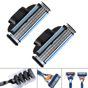 4pcs/lot General Useful Shaver Razor Blades Cassette Shaving Blade For Men Face 3-Layer Blades Compatible For Razor Machine