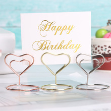 Table-Number-Stand Picture-Frame Place-Card-Holder Photo-Clip Party-Decoration Heart