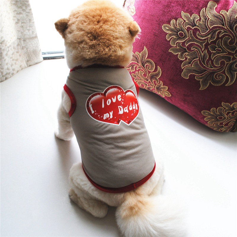 Summer Dog Clothes for Small Dog Clothing Pet Mesh Breathable Vest for Dogs Jacket Clothing for Chihuahua Pet Puppy Costume 3