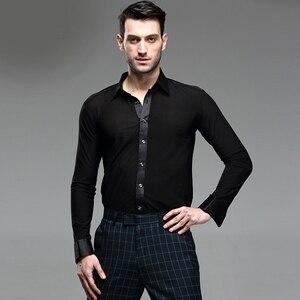 Image 4 - Nowe Fantasia Latin Dance topy mężczyźni joga sala balowa Salsa Tango Samba ubrania taneczne standardowe topy męska profesjonalna odzież do tańca