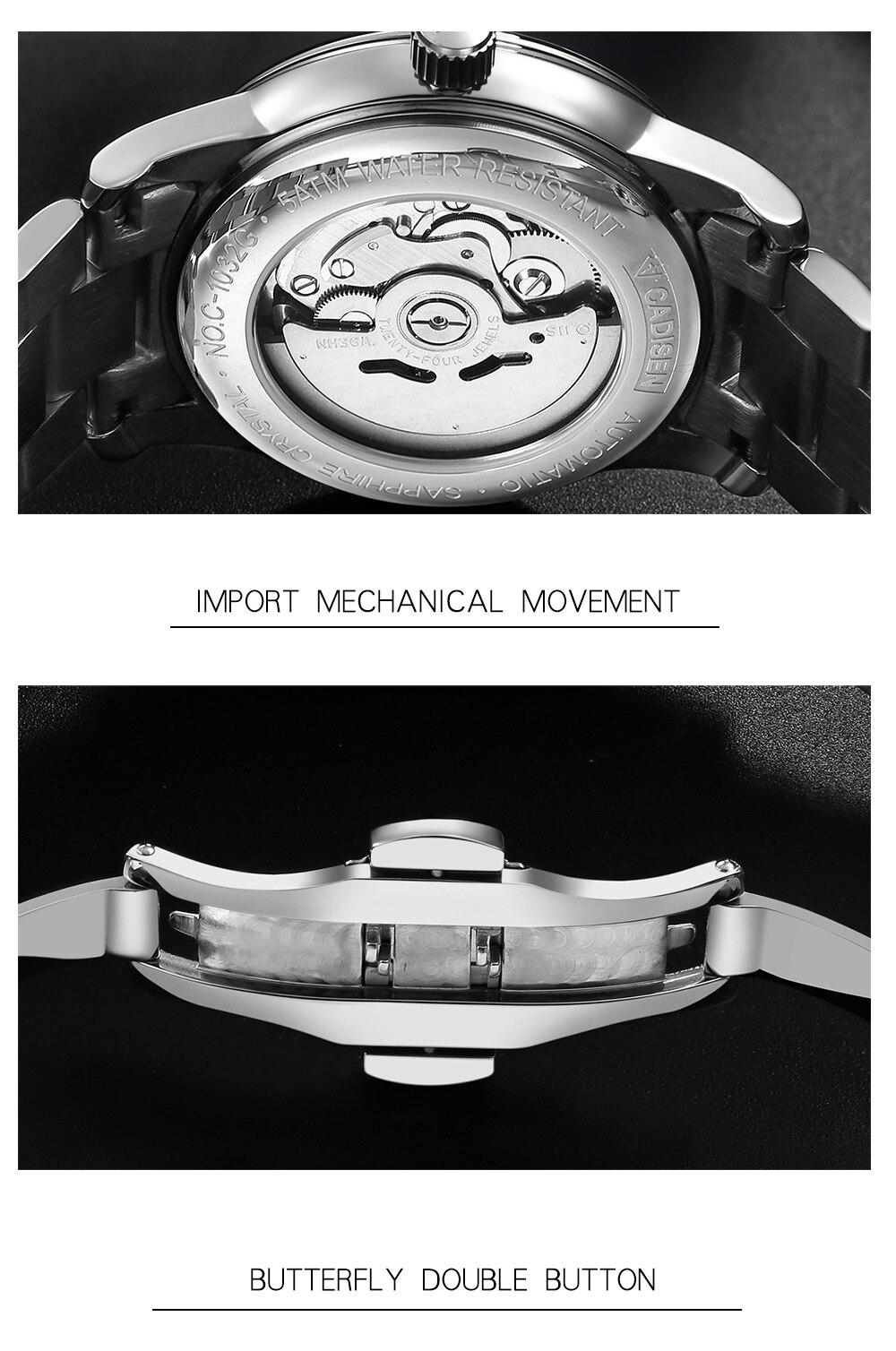 japão nh36a relógio de pulso relogio masculino