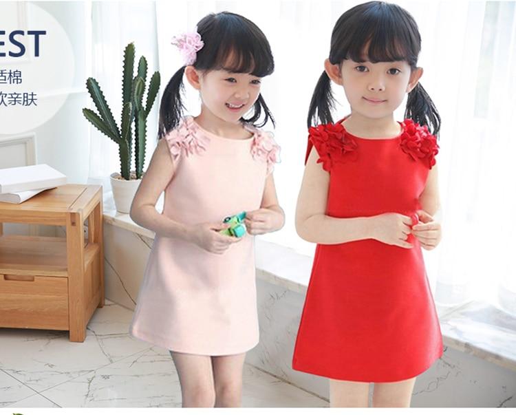 Summer Dress Girl Child Princess Pink Red Korean Toddler Little Girl Dress Candy Costume Lol Surprise 2 3 4 5 6 7 8 Year 2020