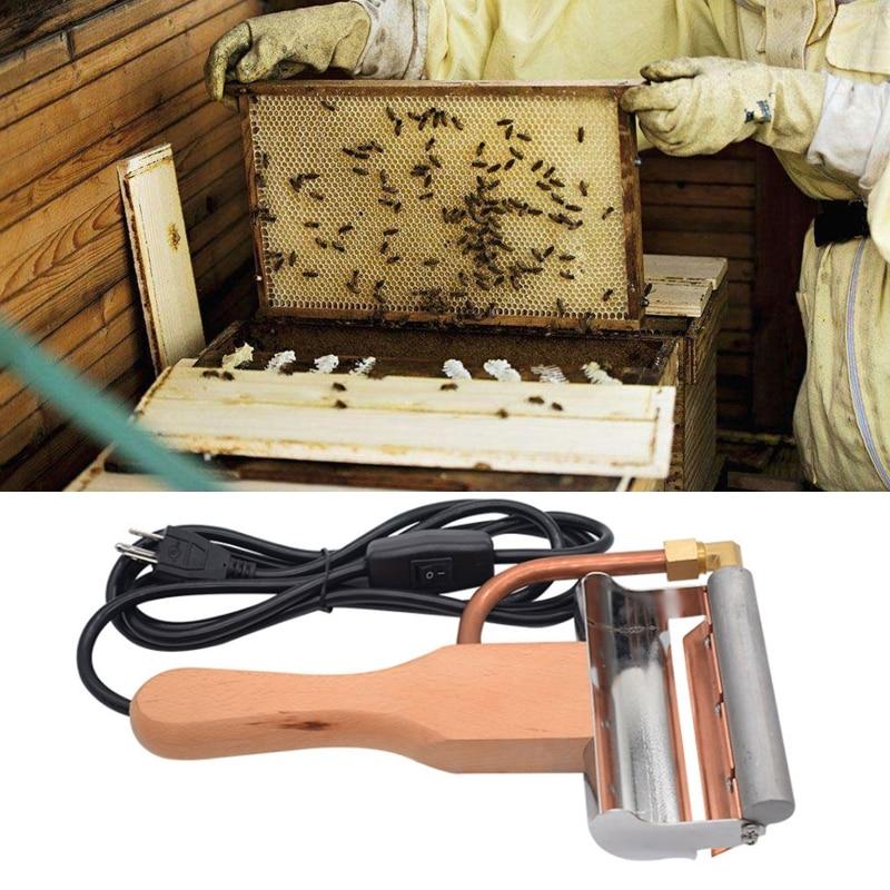 Электро мед экстрактор распаковка нож пчеловодство инструменты мед скребок резак