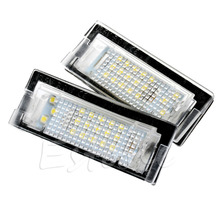 1Pair Error Free LED Number License Plate Lamp For BMW E39 5D 5 Door Wagon Touring