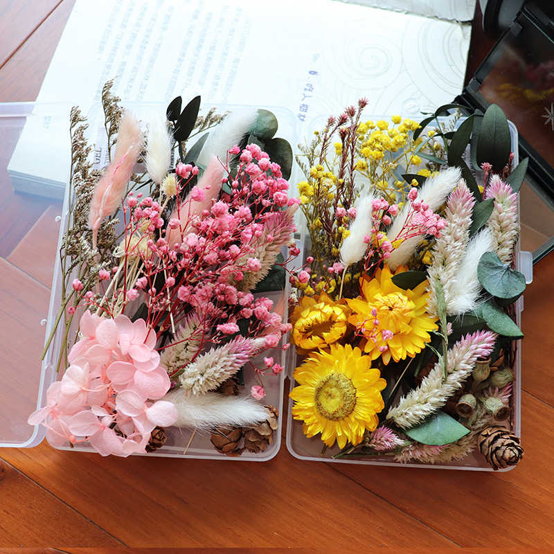5pcs Real Dried Flower Dry Plants Craft Aromatherapy Candle Epoxy Resin Pendant