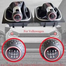 Ручная коробка передач с 5 6 Скорость автомобиля Шестерни перемещения рычага переключения передач для ручной мяч для Volkswagen VW Golf 6 MK6 GTI GTD R20 ...