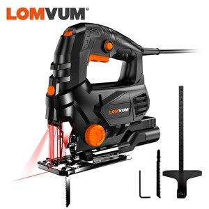 Lomvum 800w laser jigsaw elétrica 5 variale velocidade jig saw para carpintaria serra elétrica 110v/220v corte de madeira metal alumínio