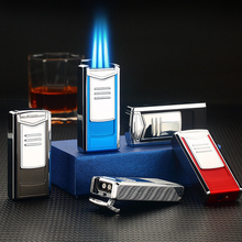 Creative Windproof Jet Torch Lighter Cool Vintage Luxury Cakmak Refillable Gas Butane Cigarette Cigar Lighters Gadgets For Men