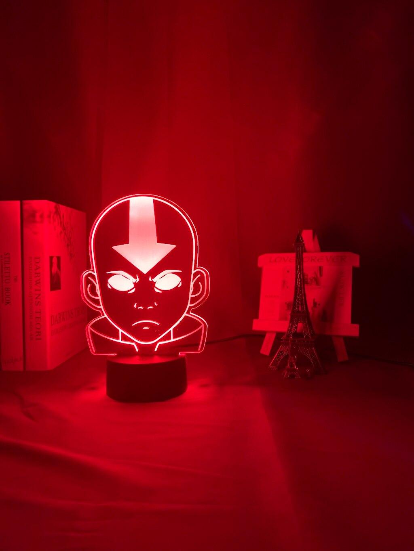 Hdfb9f8763d1f4809a1bae5cbd64fe116q Luminária Acrílico 3d Lâmpada Nightlight Avatar The Last Airbender para As Crianças Decoração Do Quarto Da Criança A Lenda de Aang Figura Mesa Appa luz da noite