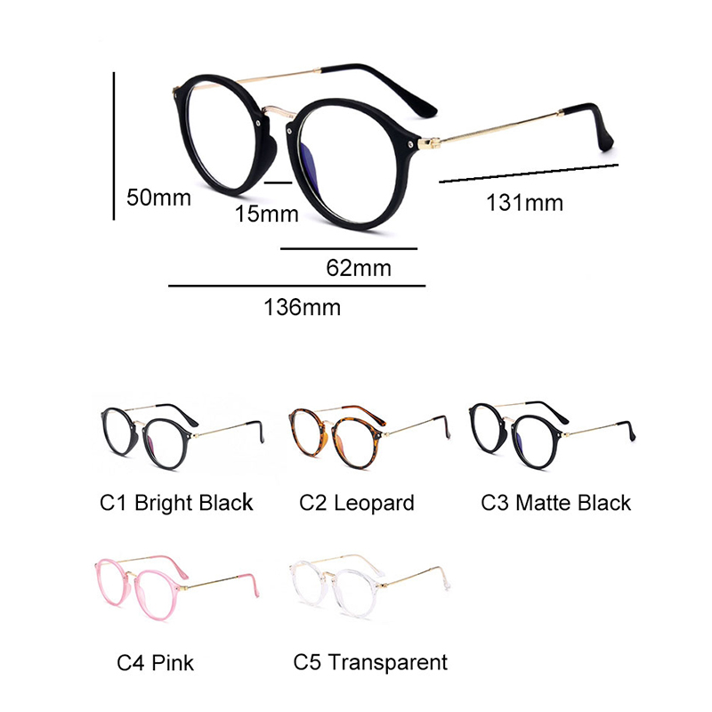 RBRARE Blue Light Glasses Frame Women Glasses Computer Spectacles Round Transparent Eyeglasses Frame 2019 Optical Frames Clear in Women 39 s Eyewear Frames from Apparel Accessories