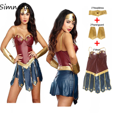 купить Wonder Superhero Woman Costumes Adult Justice League Costume Halloween Costume Women Sexy Dress Up Diana Cosplay disfraz mujer дешево