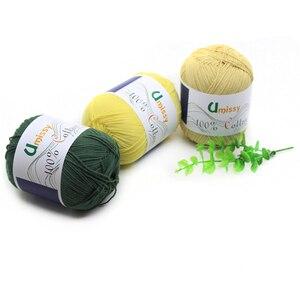Image 3 - Fils à tricoter 100% coton, 10 pièces, fil Crochet pour tricot, Anti boulochage 500 g/ensemble