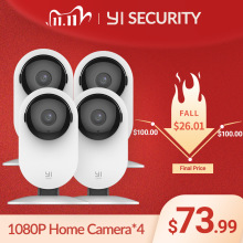 YI Home Camera 1080P 4PCS AIฟังก์ชั่นHuman Detection Night Vision IP Bayby WIFI Camกล้องวงจรปิดYI cloud Camer