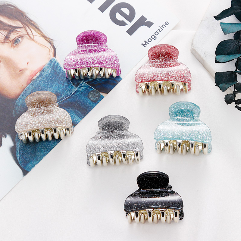 Girls Solid Glitter Hair Claws Women Sweet Hair Clips Lady Elegant Holder Hairpins Vintage Headband Fashion Hair Accessories