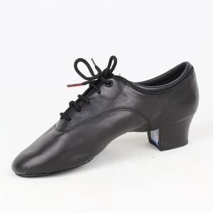 Image 2 - Zapatos de baile BD 417 para hombre, calzado de baile latino de salón, suela de cuero suave con abertura, zapatos de baile Samba Chacha Rumba Jive Paso doble