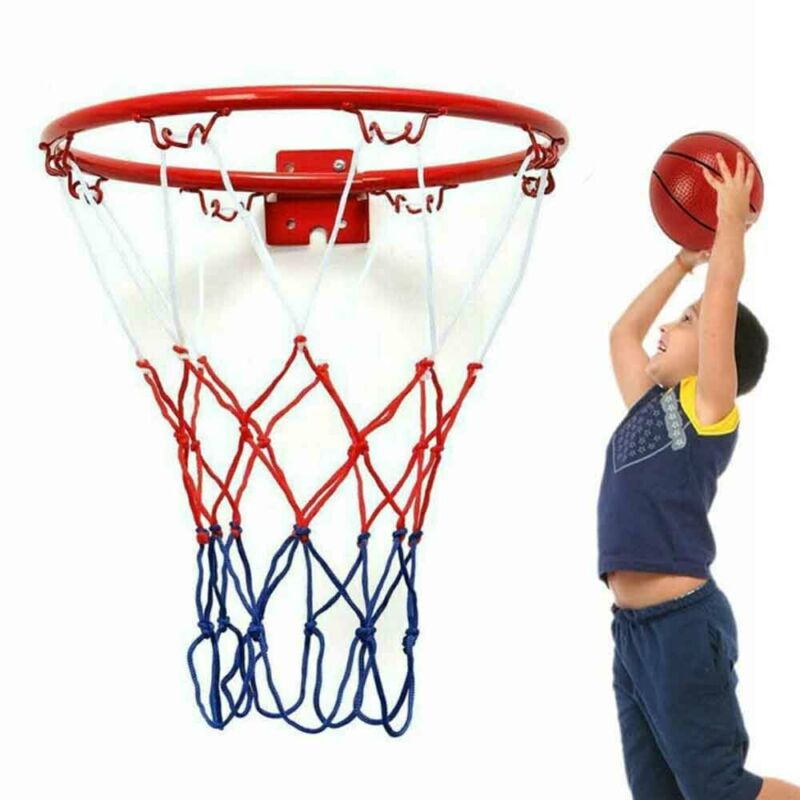 32cm Basketball Net Heavy Duty Wall Mounted Goal Hoop Rim Indoor Outdoor Sports