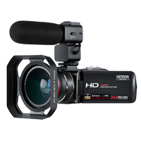 Camcorder Video Camera Full HD 1080P 30FPS ORDRO Z20 3.0 IPS Touchscreen Digital WiFi Camera with Microphone Wide Angle Lens