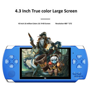 Image 2 - Gra wideo konsola do gier X6 na PSP gra ręczna gra Retro 4.3 calowy ekran odtwarzacz Mp4 odtwarzacz gier wsparcie kamera wideo E book