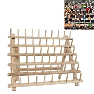 Image 5 - 木製ミシン糸スプールホルダーツール糸ラック木製オーガナイザー縫製 60 スプール糸ホルダーフレーム