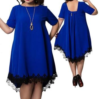 5XL 6Xl Plus Size Summer Dress Women Casual Mini Backless Lace Tassel Sexy Beach Dresses Party Vestidos