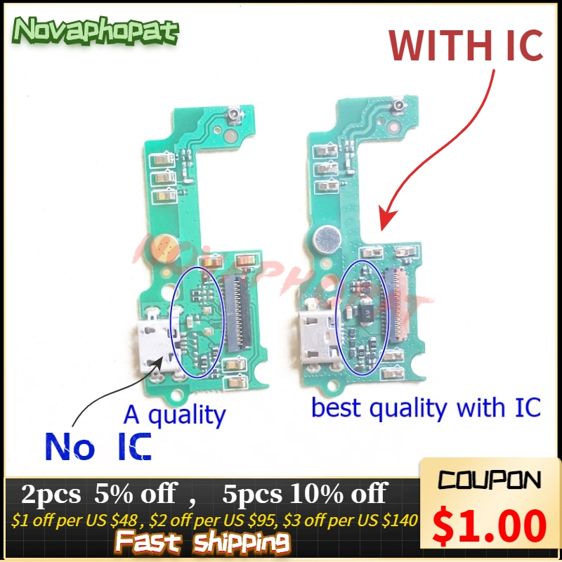 Novaphopat For Huawei Honor 4c Pro TIT-L01 USB Dock Charging Charger Port Data Connect Connector With Microphone Flex Cable