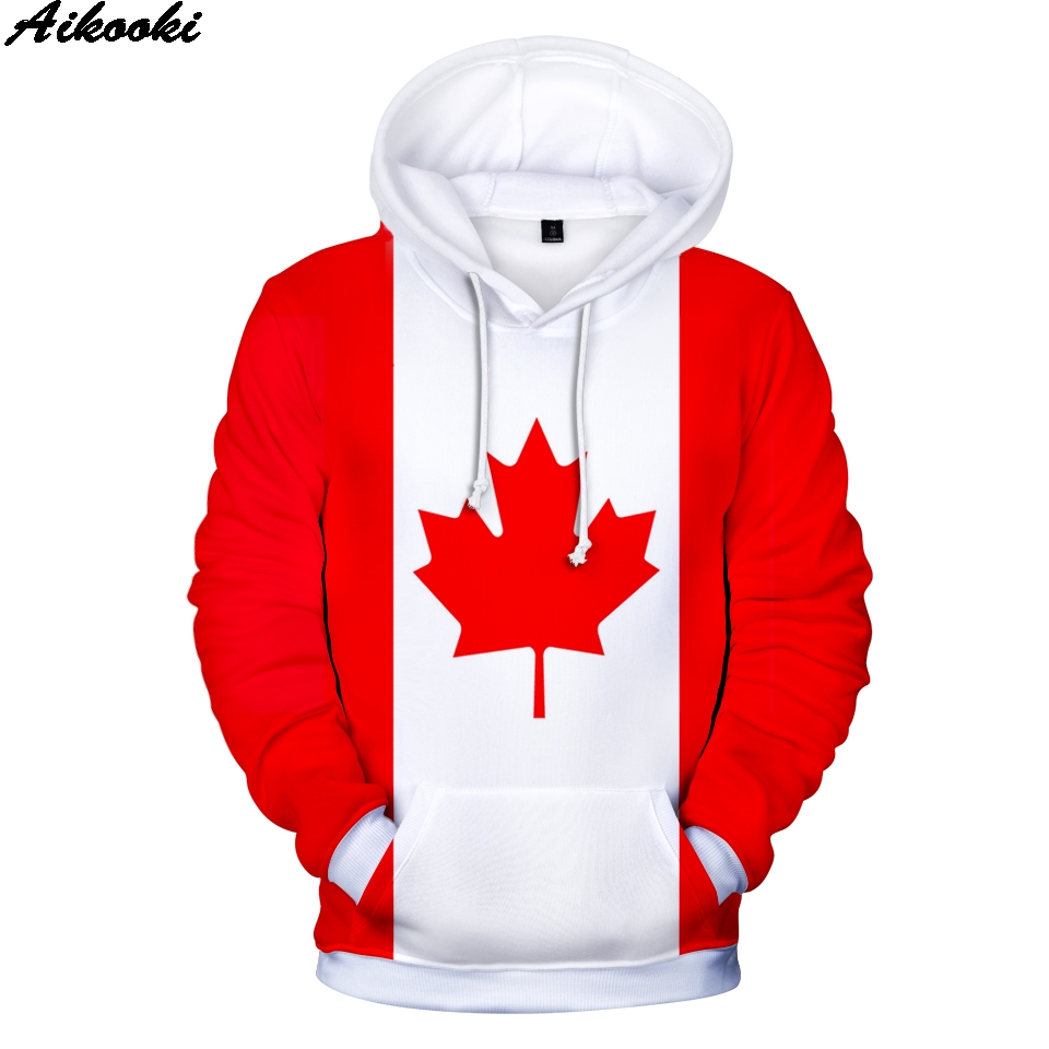 Canada National Flag 3D Hoodies Men Women Fashion Hoodie Harajuku Personality Sweatshirt Germany/Brazil National Flag 3D Hoodies