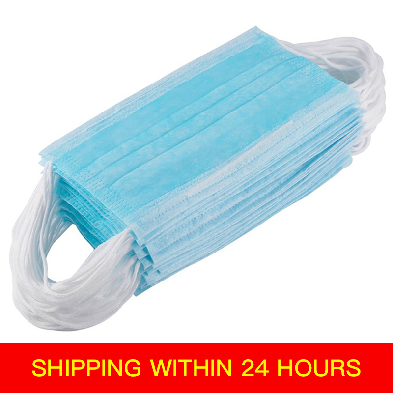 10pcs Disposable Mask Anti-dust Safe Breathable Mouth Mask Dental Ear Loop Face Surgical Hypoallergenic Anti Virus Mask
